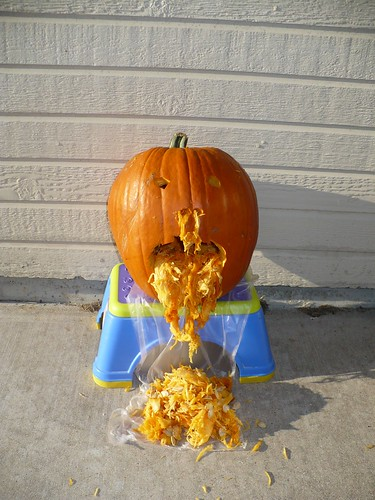 Vomiting pumpkin for Halloween | by abbamouse