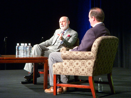 Vint Cerf & Chris Sherman at SMX Keynote | by Si1very