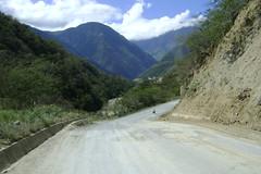Riding up into the Utcubamba River valley