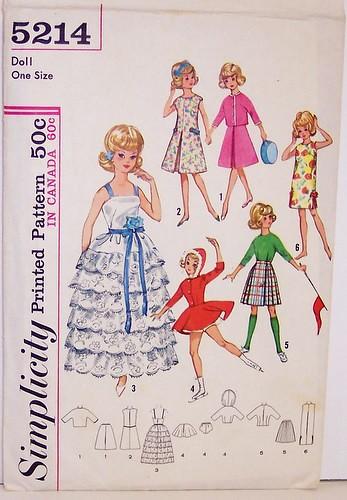 Tammy Vintage Doll Clothes Dress Coat Pattern ~ Barbie