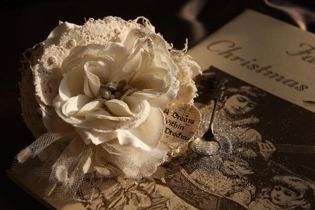 Tattered Christmas Rose