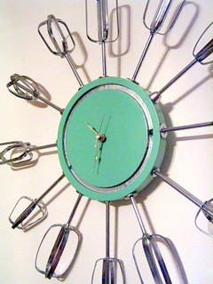 atomic eggbeater clock with saturated color | by sassycrafter