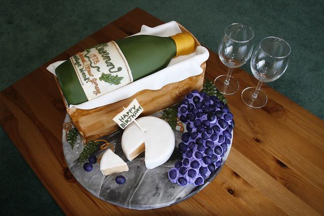 Gwenn's Wine Bottle Birthday Cake