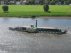 Dresden: Albrechtsberg steamer