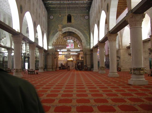 Inside the Al Aqsa mosque