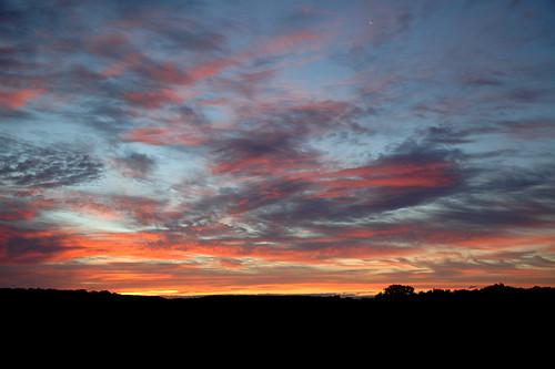 sky clouds sunrise michigan