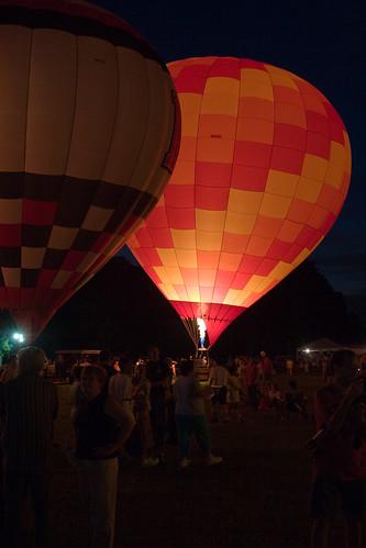 sunset summer festival twilight louisiana raw balloon batonrouge acr hotairballoons balloonglow 30d montgolfier canon30d canonef28mmf18usm chrislin christopherlin penningtonballoonchampionship