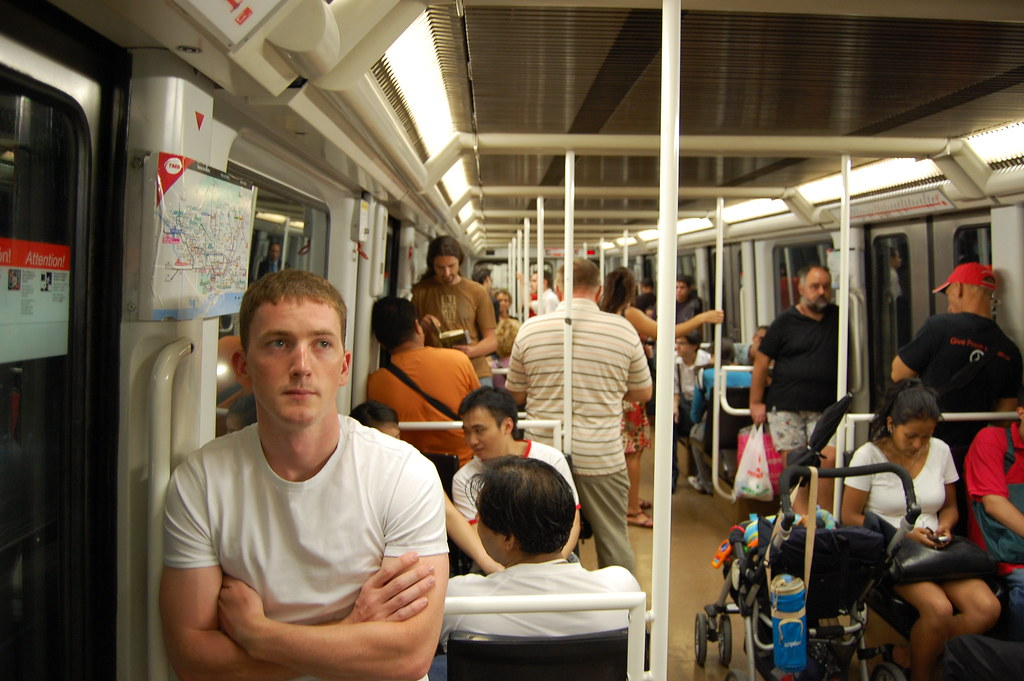 Dave on the Barcelona Metro