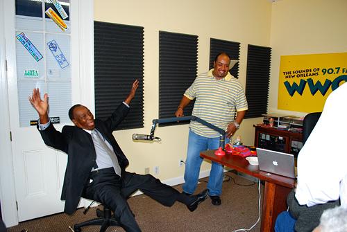 Dave Bartholomew and Ron Bartholomew at WWOZ 2008