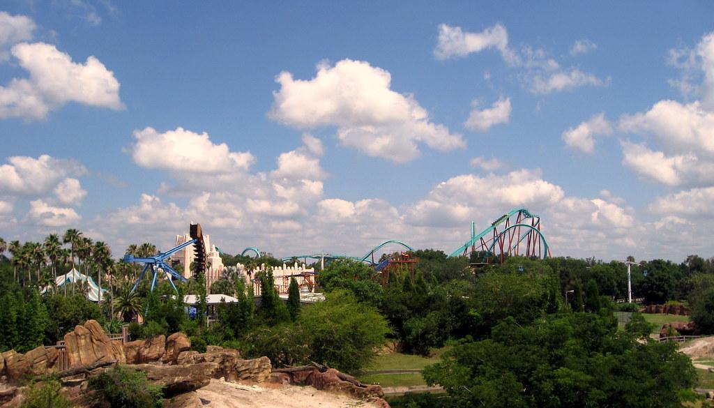 Busch Gardens   Skyride   View Towards Kumba Roller Coaste ...