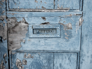 gorgeous old letterbox on a derelict building | by Jennie Filer Photography
