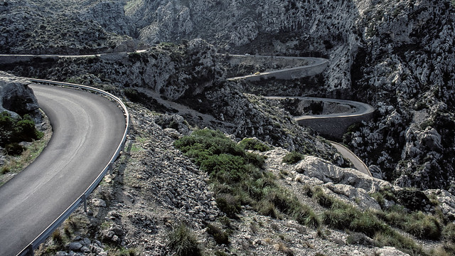 Cycling Holiday in Majorca 47 - tortuous hairpin route to Sa Calobra