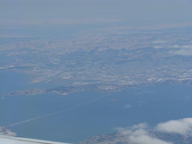 Flying over San Francisco