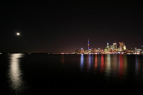 Toronto & the moon by Roozbeh Rokni