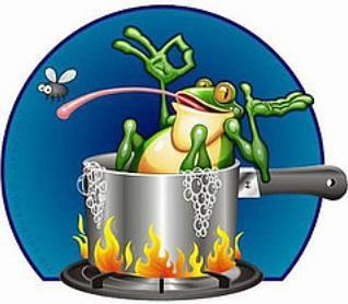 Resultado de imagen de boiling frog