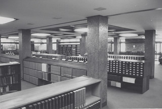 Auchmuty Library foyer, late 1960s – early 1970s, the University of Newcastle, Australia | by Auchmuty Library, UON