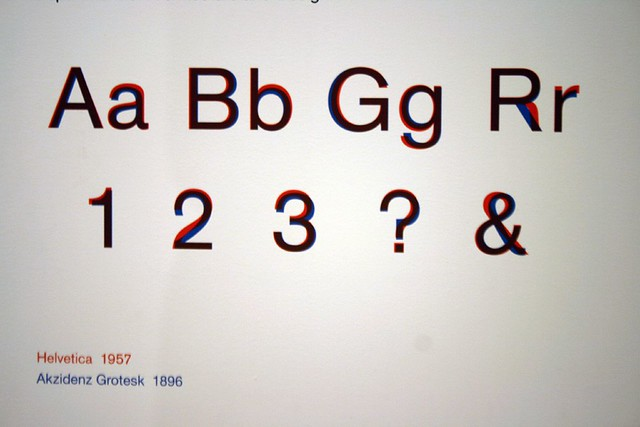 Helvetica vs  Akzidenz Grotesk | Part of the excellent