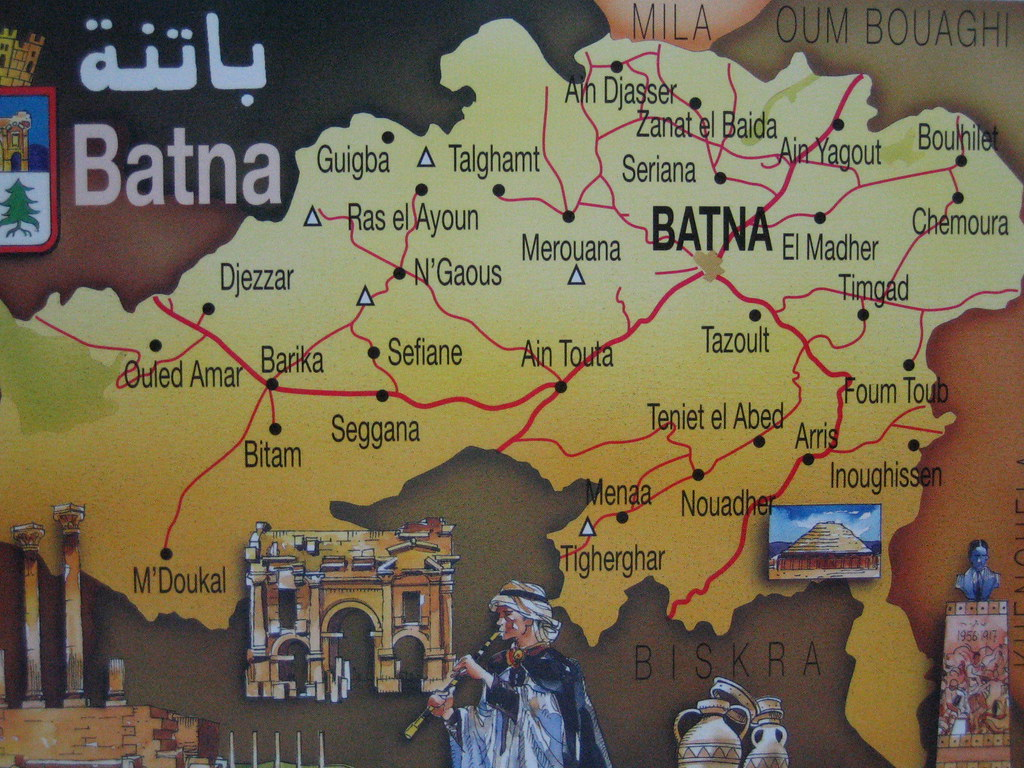 Town map: Batna | chickfinder | Flickr