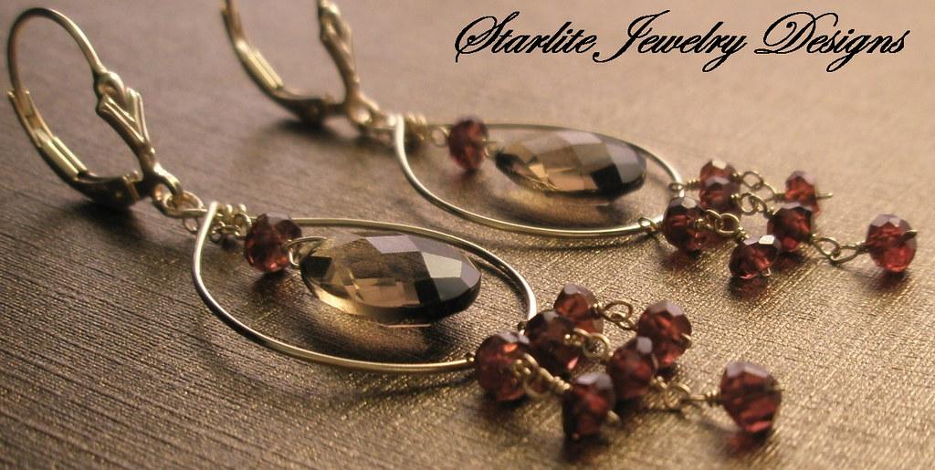 Starlite Jewelry Designs ~ Briolette Earrings ~ Handmade Jewelry Design.
