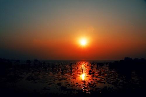 morning blue orange india yellow sunrise dark shadows maharashtra mumbai mws iitbombay sewri 0752