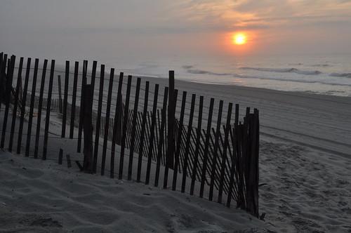 beach sunrise jerseyshore beachhaven