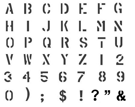 CC0074 Military Alphabet Letter Stencils | Military Alphabet… | Flickr