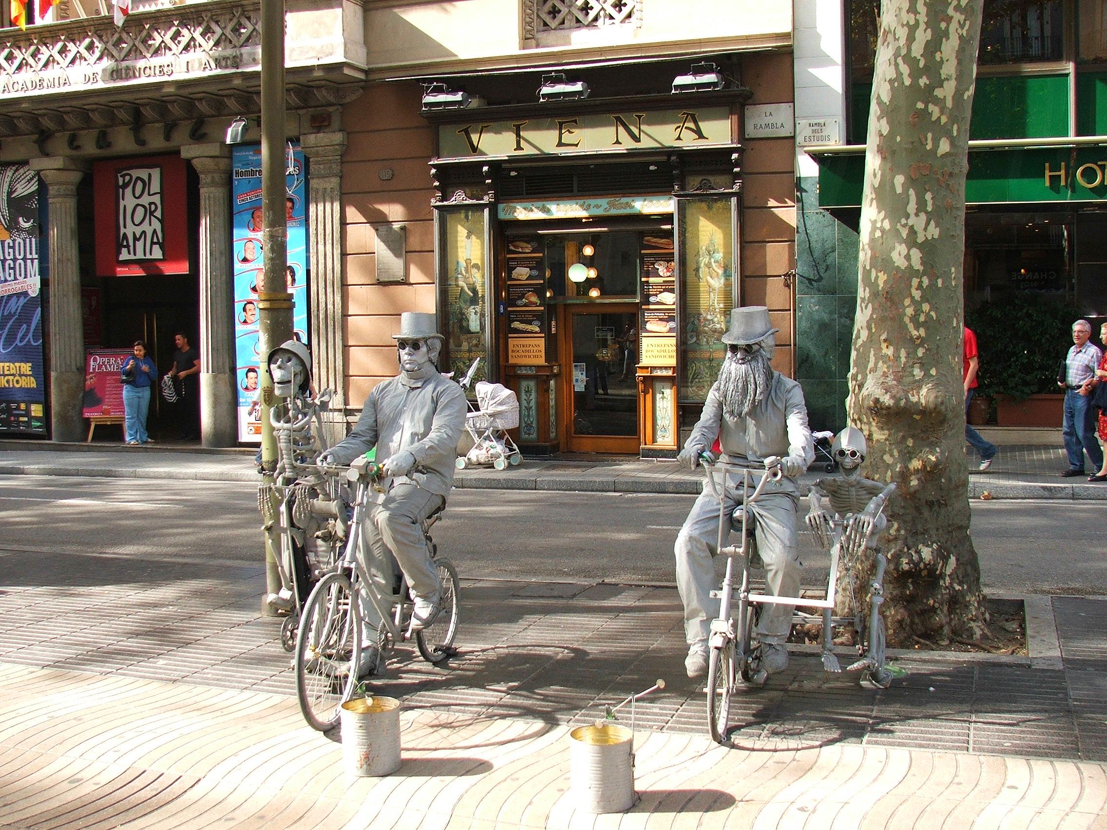 Las Ramblas, Barcelona, Spain.