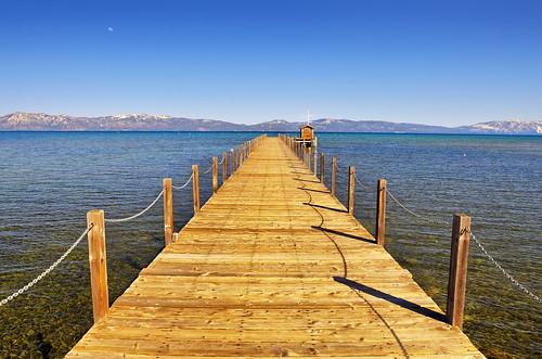 california ca blue sun moon lake nature water sunshine landscape pier vanishingpoint nikon crystal nevada tahoe laketahoe clear nv pure d300 blueribbonwinner theperfectphotographer