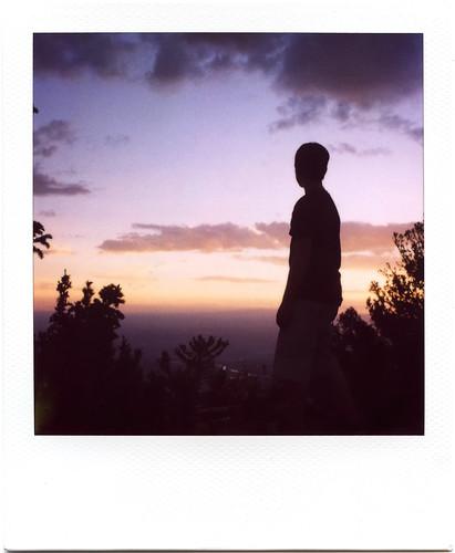 newmexico film silhouette polaroid son fin polaroid600 sandiapeak slr680se