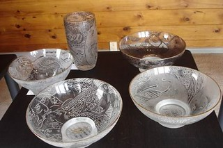 Exhibition at Anneke Borren , Glass bowls 2006