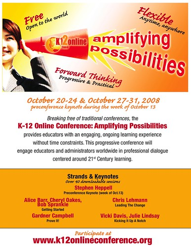 K-12 Online Conference 2008 Marketing Flyer | by Wesley Fryer
