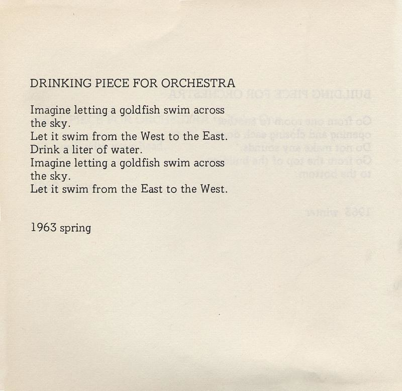 Drinking Piece For Orchestra 1963 By Yoko Ono From Grape Flickr