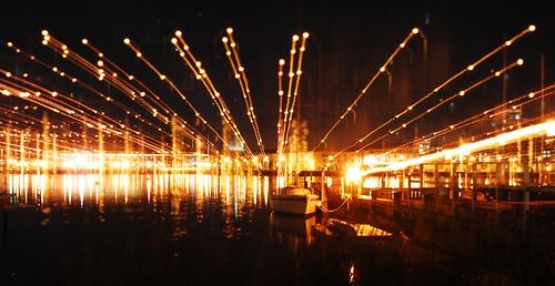 nature water harbor streetlight waterfront navy maryland ripples annapolis usna chesapeakebay navalacademy