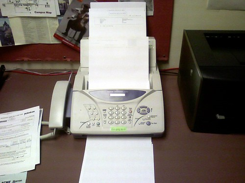 Fax machine in my office | by Nathan Rein