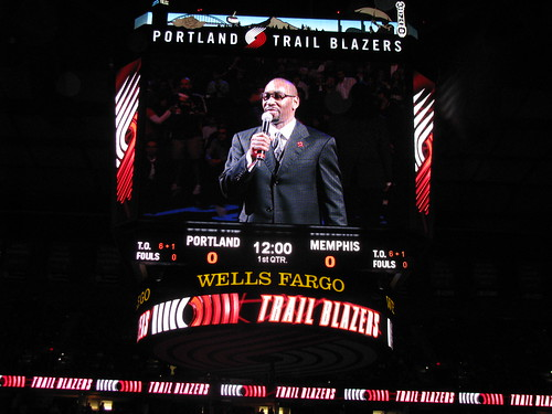 Blazers-Grizzlies Game From April 2008 | My friend Jason