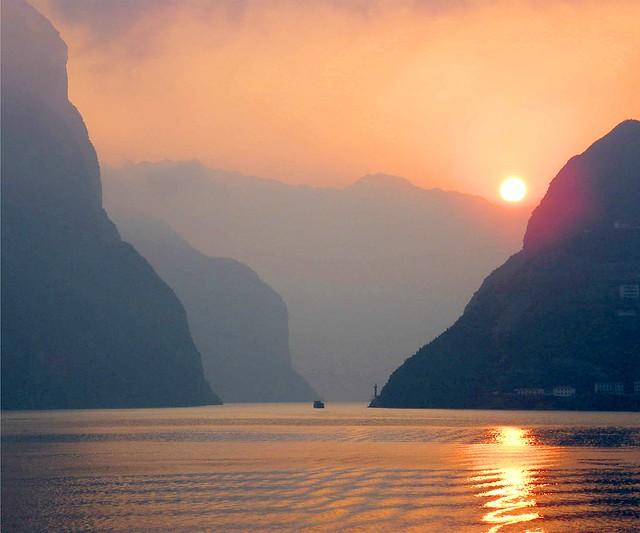 Sunset on the Chang Jiang*