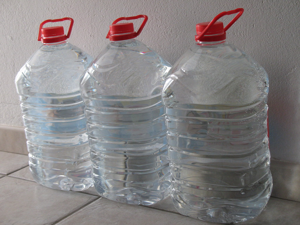 Tap water is desalinated sea water so we use bottled water for our tea and coffee