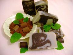 Csokoládé-menta szappan!