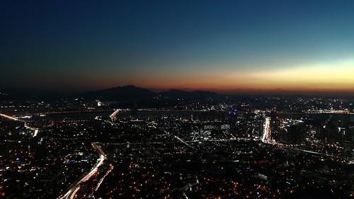 landscape skyline sky panorama veduta vista view sunset tower lights