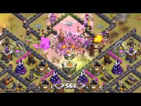 Clash Of Clan 3 Star Attacks On TH 10 ( Best War Attack st