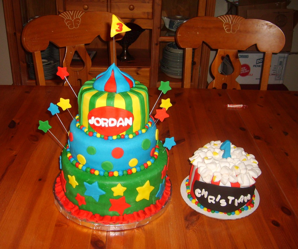 Super Carnival Birthday Cakes This Was For Two Brothers Have A C Flickr Personalised Birthday Cards Bromeletsinfo