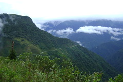 The road ahead and into Sangay National Park above Mendez