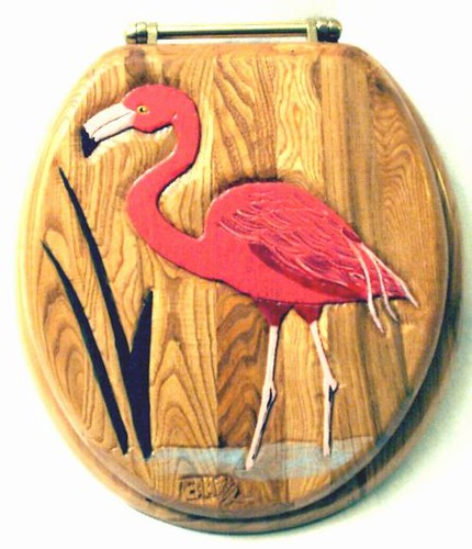 Tremendous Flamingo Carved Wood Toilet Seat See These And More At Short Links Chair Design For Home Short Linksinfo