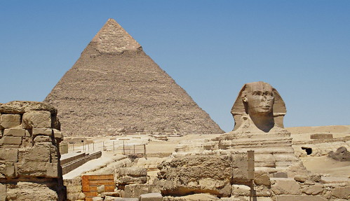 The Sphynx and Khafre' Pyramid | by zolakoma