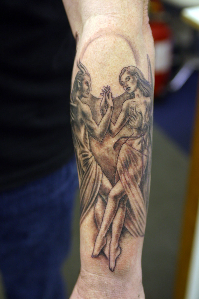 Angel Dancing With The Devil Tattoo Wwwfacebookcomflami