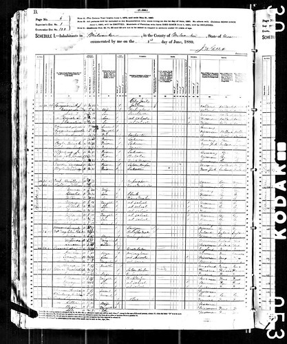 Milwaukee 1880 census records - Guequierre | by yhoitink