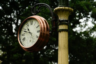 Clock for the railway at Whipsnade Zoo | by Martin Pettitt