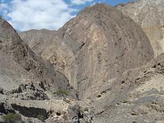 Impressive geological formation on  Chuiquicara Yuracmarca road