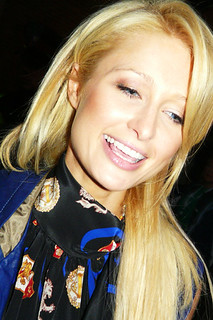Socialite Paris Hilton gets up close for an awesome photograph after leaving Ryerson University for the Tiff '08 Premiere of Paris, Not France | by christopherharte