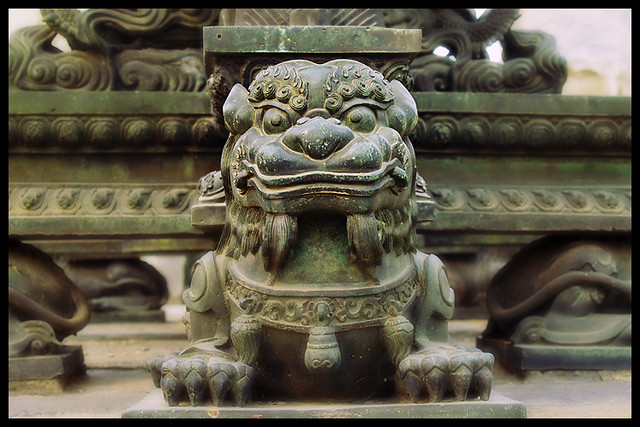 Lion at Beijing's Ancient Observatory